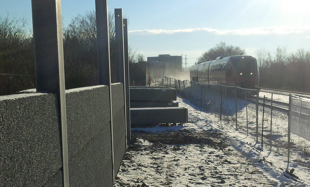 O Train Precast Noise Barrier Wall Titanium Contracting Inc